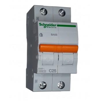 Автоматический выключатель ВА63 2п 25А  Schneider Electric (11215)