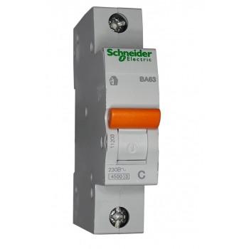 Автоматический выключатель ВА63 1п 25А  Schneider Electric