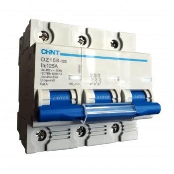 Автоматический выключатель дифференциального тока DZ158-125A Chint
