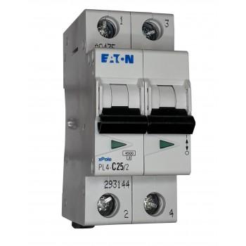 Автоматический выключатель PL4-C25/2p/003mA EATON (293144)