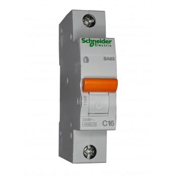 Автоматический выключатель ВА63 1п 16А  Schneider Electric