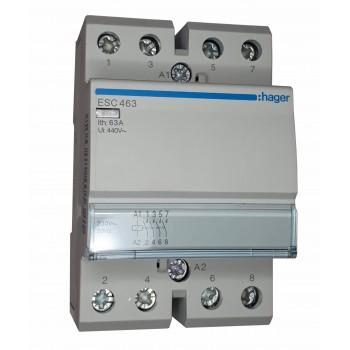 Контактор 63А ESC463 Hager 230V