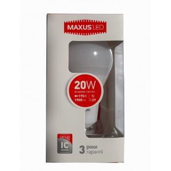 LED лампа MAXUS А80 20W 4100К E27 (1-LED-5610)