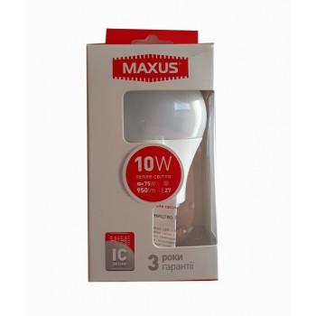 LED лампа MAXUS A60 10W 3000К E27 (1-LED-561-01)
