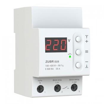 Реле контроля напряжения D25А ZUBR