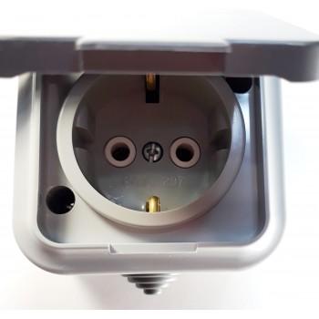 Розетка РА16-297 герметичная наружная с заземлением АКВА Bylectrica