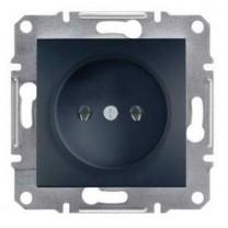 Розетка 1-ая внутренняя  антрацит Asfora Schneider Electric (ЕРН3000171)