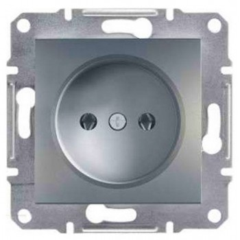 Розетка 1-ая внутренняя алюминий Asfora Schneider Electric (ЕРН3000161)