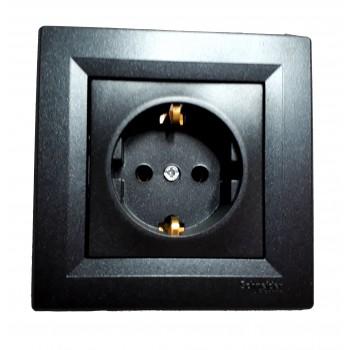 Розетка Schneider Electric антрацит (механизм)
