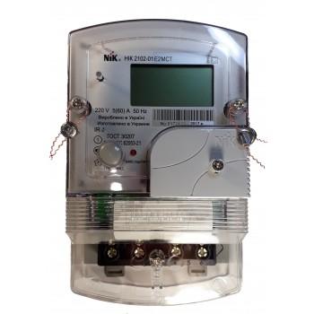Многотарифный счетчик электроэнергии «день-ночь» NIK 2102-01.Е2СТ