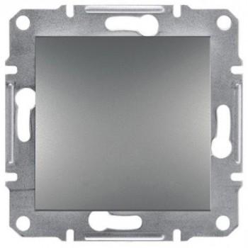 Выключатель 1-ый внутренний сталь Asfora Schneider Electric (ЕРН0100162)