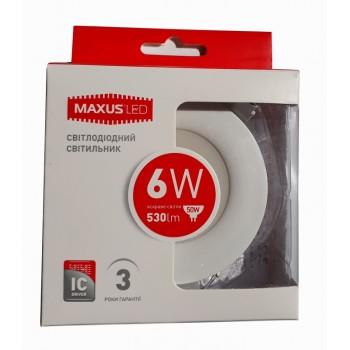LED светильник MAXUS SDL 6W яркий свет (1-SDL-004-01)