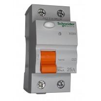 Устройство защитного отключения ВД63 2п 25А 300мА тип АС Schneider Electric 11451