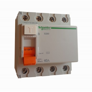 Устройство защитного отключения ВД63 4п 40А 30мА тип АС Schneider Electric