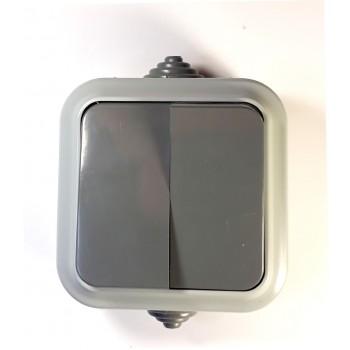 Выключатель двухклавишный А5 6-224 наружный АКВА Bylectrica