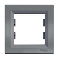 Рамка 1-ая сталь Asfora Schneider Electric (ЕРН5800162)