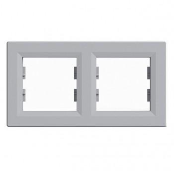 Рамка 2-я горизонтальная алюминий Asfora Schneider Electric (ЕРН5800261)