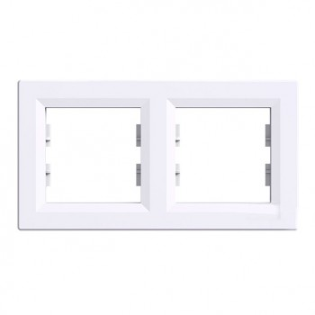 Рамка 2-я горизонтальная белая Asfora Schneider Electric (EPH5800221)
