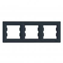 Рамка 3-я горизонтальная антрацит Asfora Schneider Electric (EPH5800371)