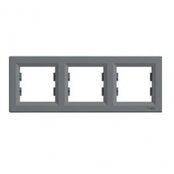 Рамка 3-я горизонтальная сталь Asfora Schneider Electric (EPH5800362)