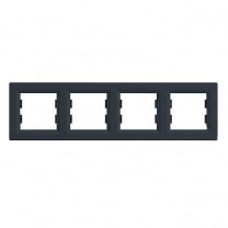 Рамка 4-я горизонтальная антрацит Asfora Schneider Electric (EPH5800471)
