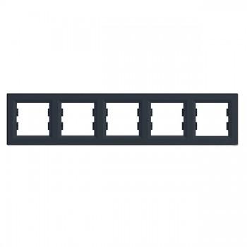 Рамка 5-я горизонтальная антрацит Asfora Schneider Electric (EPH5800571)