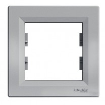 Рамка 1-я горизонтальная алюминий Asfora Schneider Electric (ЕРН5800161)